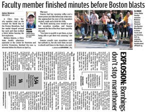 Faculty member finished minutes before Boston blasts