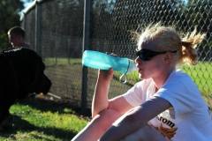 Keystone watches from the bleachers or sidelines at every practice.