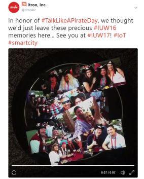 There is always a reason to celebrate #TalkLikeAPirateDay. Original post: https://twitter.com/itroninc/status/910252074843041793